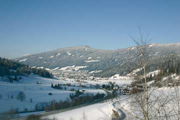 schöner Ausblick von Ferienhaus Richtung Radstadt