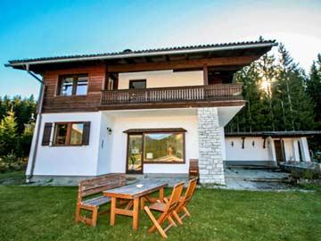 Ferienhaus für 8 Personen am Dachstein - Sitzplatz auf der Terrasse