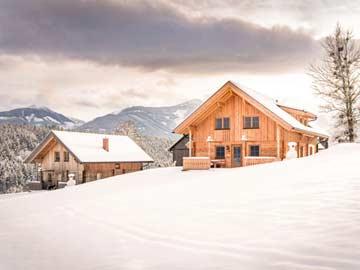 Beide Hütten im Winter