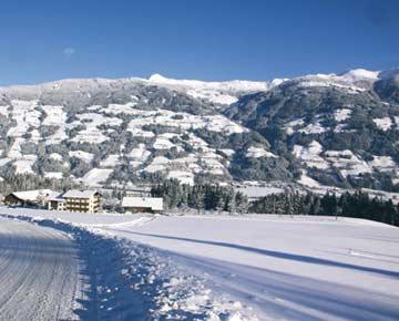 die Umgebung der Skihütte Fügen