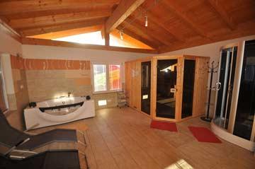 Sauna & Dampfdusche im Anbau