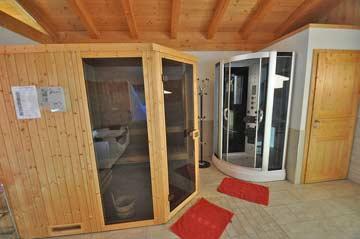 Sauna im Wellness-Anbau