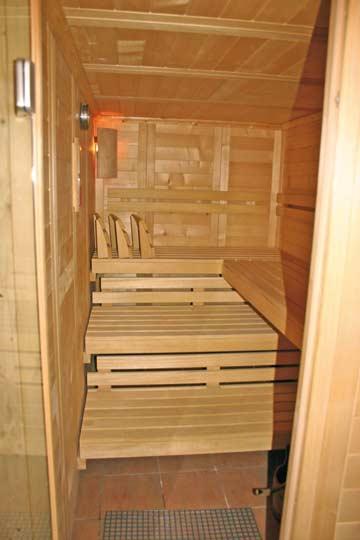 die Sauna ist der beste Ort, um einen schönen Skitag ausklingen zu lassen