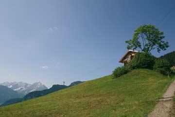 Berghütte Mayrhofen auf 1000 m Höhe
