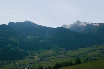 die Aussicht von der Berghütte Mayrhofen