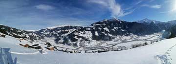 Winteridylle bei Mayrhofen im Zillertal: Aussicht