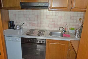 Küche direkt beim Speise- und Aufenthaltsraum