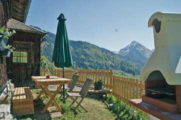 Hütte Au-Schoppernau - gibt es einen schöneren Grillplatz in den Bergen?