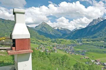 wohl einer der schönsten Grillplätze in den Alpen - auch im Winter nutzbar