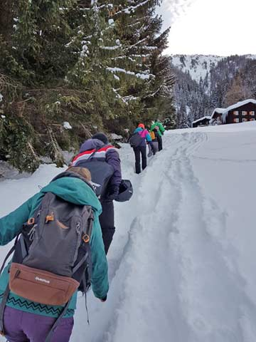 der Weg vom Parkplatz zur Hütte