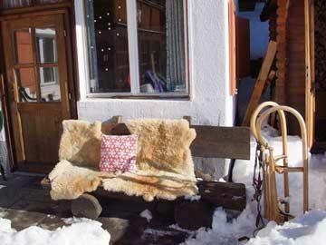 Lauschiger Sitzplatz auch im Winter