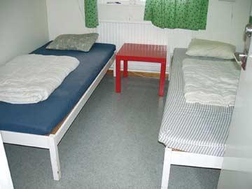 einer der insgesamt vier 2-Bett-Zimmer