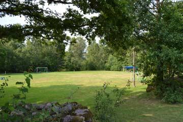 Fußballplatz mit Toren