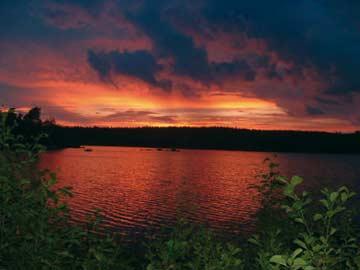 Sonnenuntergang am Alljungen See