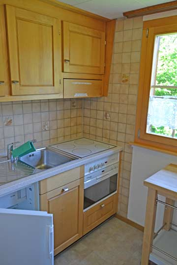 Küche im Chalet