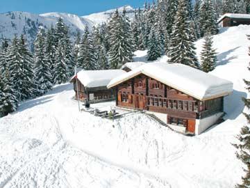 Skihütte Flims - phantastische Lage direkt im Winterresort LAAX