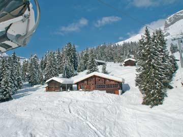 weitere Impressionen der Skihütte Flims (aus dem Sessellift fotografiert)