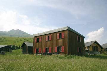 Berghütte Savognin mitten im Wander- und Tourengebiet