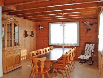 die Hüttenstube mit offener Küche