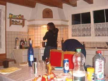 Unsere Kunden beim Küchendienst