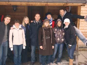 unsere Kunden beim Skiwochenende in Braunwald