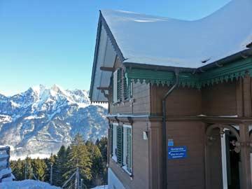weitere Winterimpressionen der Hütte Flumserberg