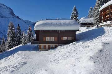 Skihütte Elm direkt im Skigebiet