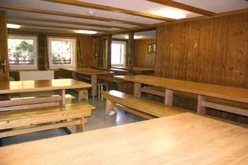 Skihütte Flumserberg-Tannenheim - der Speise- und Aufenthaltsraum