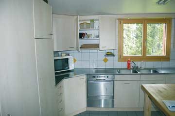 Skihütte Alt St. Johann - die gut ausgestattete Küche