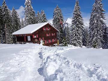 Skihütte Alt St. Johann - mitten im Skigebiet Toggenburg