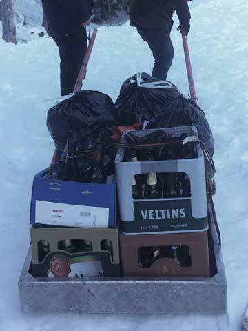 Gepäcktransport (Kundenfoto)