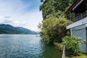 Blick auf den Luganer See von der Wiese am Haus aus