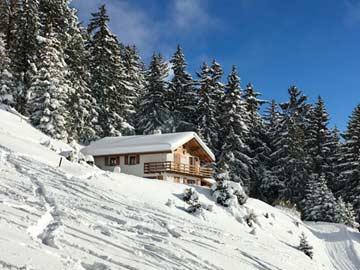 Winteridylle im Skigebiet Crans-Montana