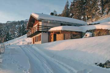 ein wahres Wintermärchen: unser Chalet Crans-Montana