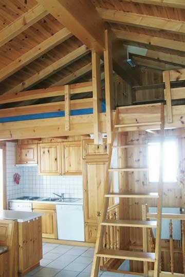 Galerie über dem Wohnraum mit 2 weiteren Schlafplätzen
