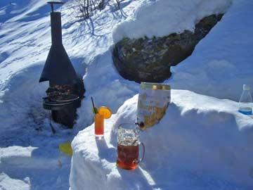 Schneebar im Winter