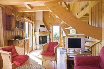 herrlich gemütlicher Wohnraum im Chalet Collons