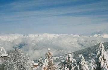 Chalet Les Collons - Herrliche Aussicht im Winter