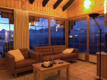 Wohnraum mit gigantischem Alpenpanorama