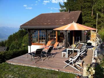 Herrlich gelegenes Chalet mit schöner Sonnen- und Panoramaterrasse