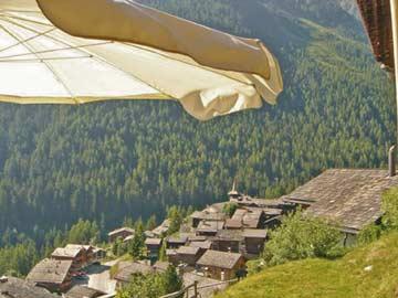 Aussicht Terrasse im Sommer