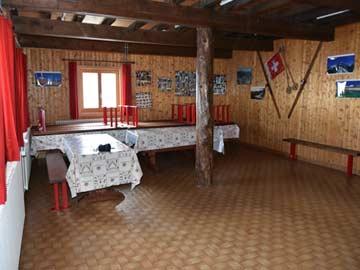 Aufenthaltsraum der Hütte